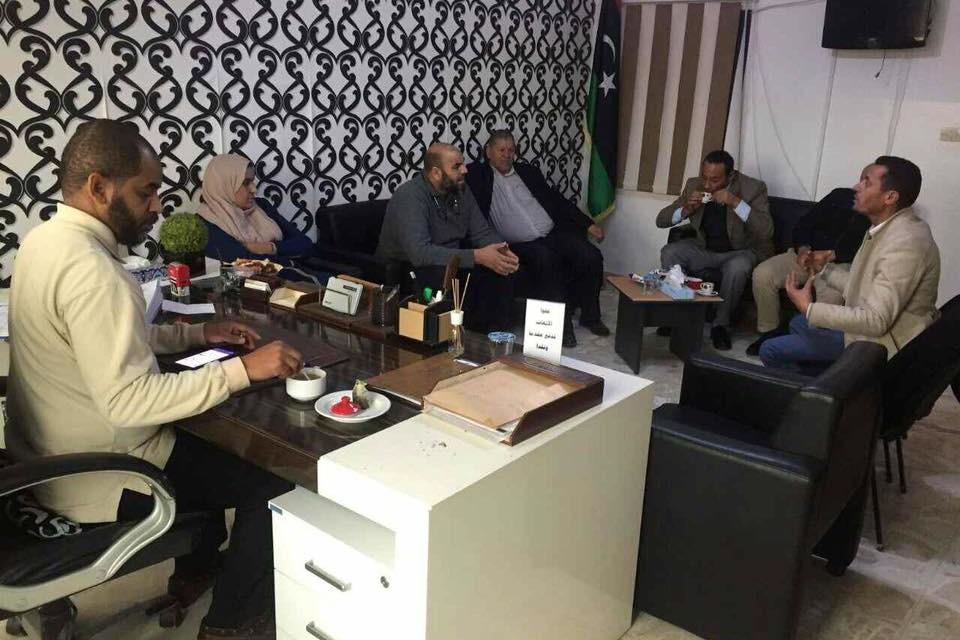 الاجتماع الذي عقد بتاريخ 16/12/2018 م من اجل التنسيق لتكوين نقابة عامة لمحررى عقود طرابلس